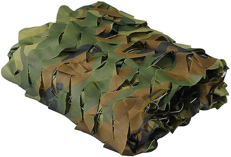 Ljdgr Filet Camo Visière Extérieure GR Filet de Camouflage en Tissu Oxford Camping en Plein air pour l'observation des Oiseaux, Filet de Camouflage (Taille  5x8M) Armée Camo Filet (Taille   3x8m)