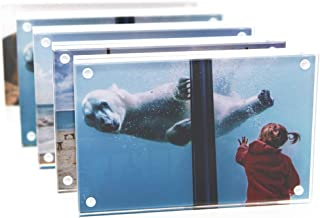 TOOLSURE Acrylic Picture Frames 4x6 inches Clear Magnetic Frame with Gift Box Package 5PACK