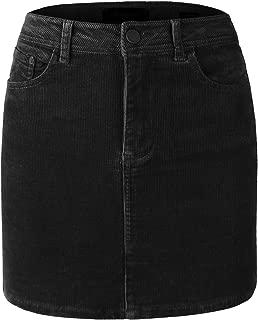 Women's Classic Casual Corduroy Mini Skirt w/Pockets [4 Colors]