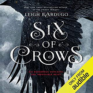 Six of Crows                   By:                                                                                                                                 Leigh Bardugo                               Narrated by:                                                                                                                                 Jay Snyder,                                                                                        Brandon Rubin,                                                                                        Fred Berman,                   and others                 Length: 15 hrs and 4 mins     8,579 ratings     Overall 4.5