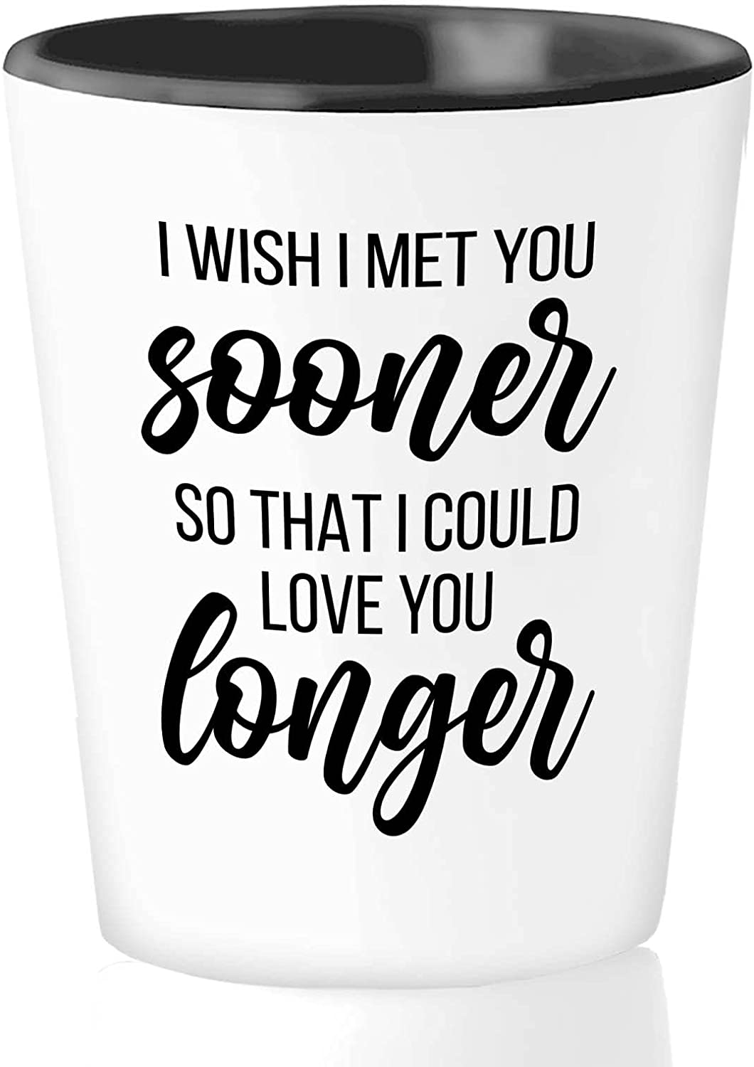 Romantic SEAL limited product Shot Glass 1.5 Oz White Dating Love sale Longer You -