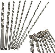 8 brocas extra largas de 200 mm para herramientas de vástago recto de acero, madera, plástico y aluminio, joyas, 2 mm a 7 mm