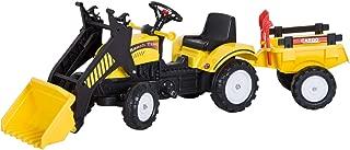 HOMCOM Tractor Pedales Excavadora Infantil Juguete de Montar
