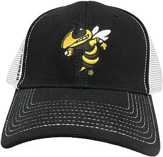 e5164116dd8c9 Rob sTees Georgia Tech University Yellow Jackets Mesh Back College Team  Strap Back Dad Hat