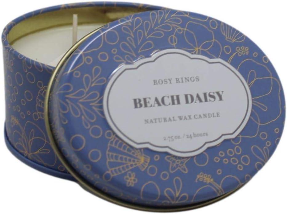 Rosy Rings Japan's largest assortment Travel Tin Daisy Beach 4 years warranty -