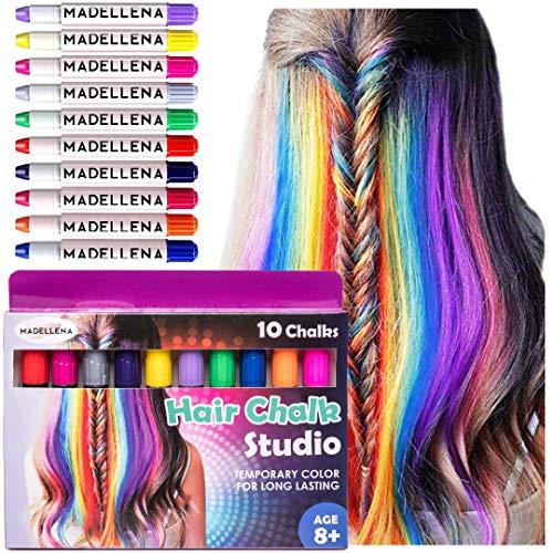 Hair Chalk, Temporary Hair Color, Teenage Girl Gifts, Hair Chalk for Girls, Temporary Hair Dye for Kids, Hair Dye for Kids, Hair Color for Kids, Washable Hair Chalk, Birthday Gifts for Girls, Gifts for Girls