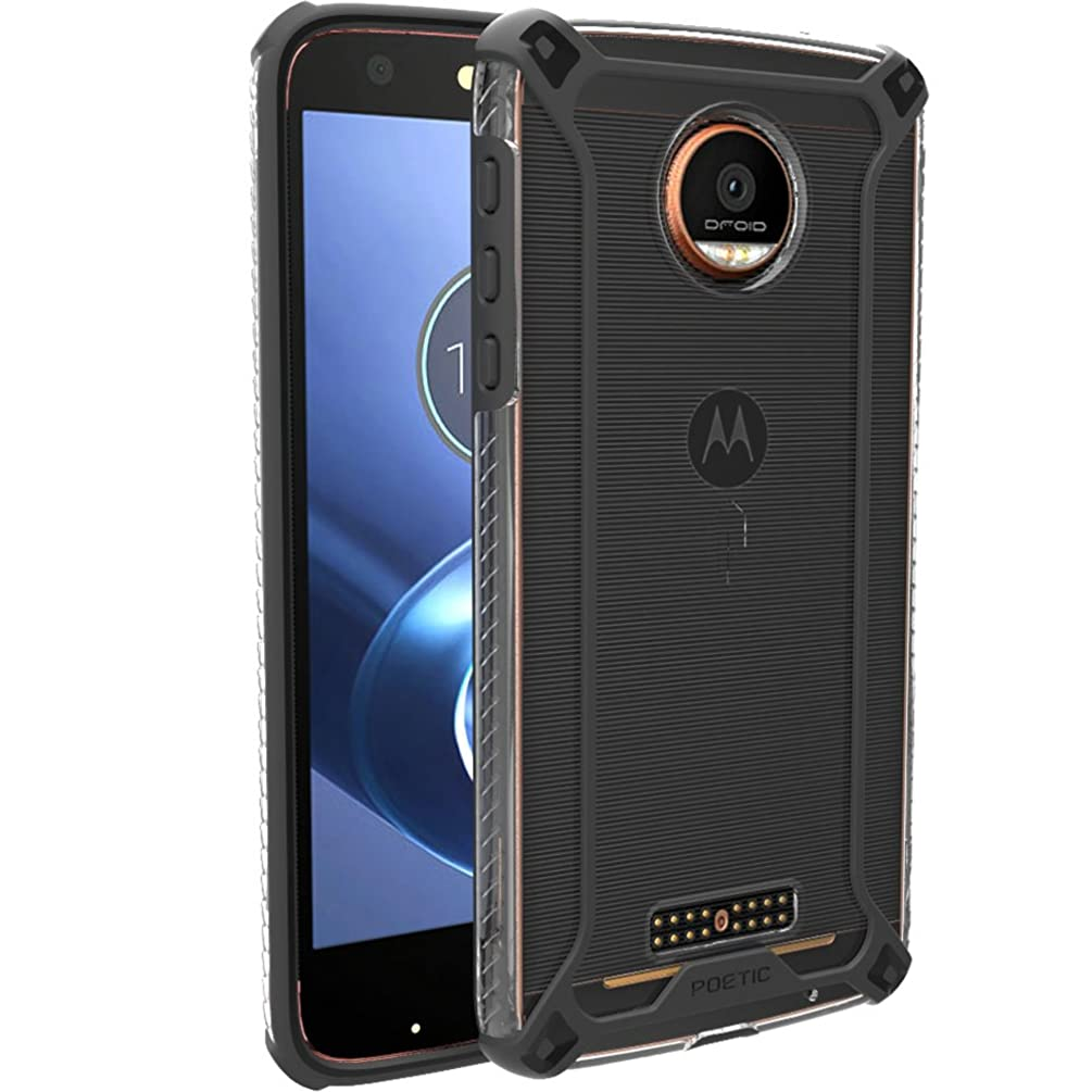 Poetic Moto Z/Moto Z Droid Case, Affinity Series Premium Thin/Slim Fit/Clear Bumper Case for Moto Z Black/Clear [Does Not Work with Moto Z Force Edition, Moto Z Play Edition]