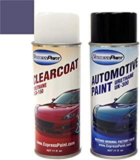 ExpressPaint Aerosol - Automotive Touch-up Paint for Subaru Impreza - Newport Blue Pearl Clearcoat 64Z - Color + Clearcoat Package