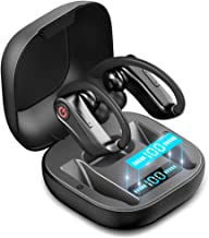 Wireless Earbuds, Bluetooth Headphones 5.0 True Wireless Sport Earphones Built-in Mic in Ear Running Headset with Earhooks Charging Case Compatible with iPhone 11 Pro Max XS XR Samsung Android