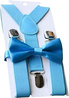 UDRES Unisex Kid Boys Girls Adjustable Bow Tie & Suspender Sets