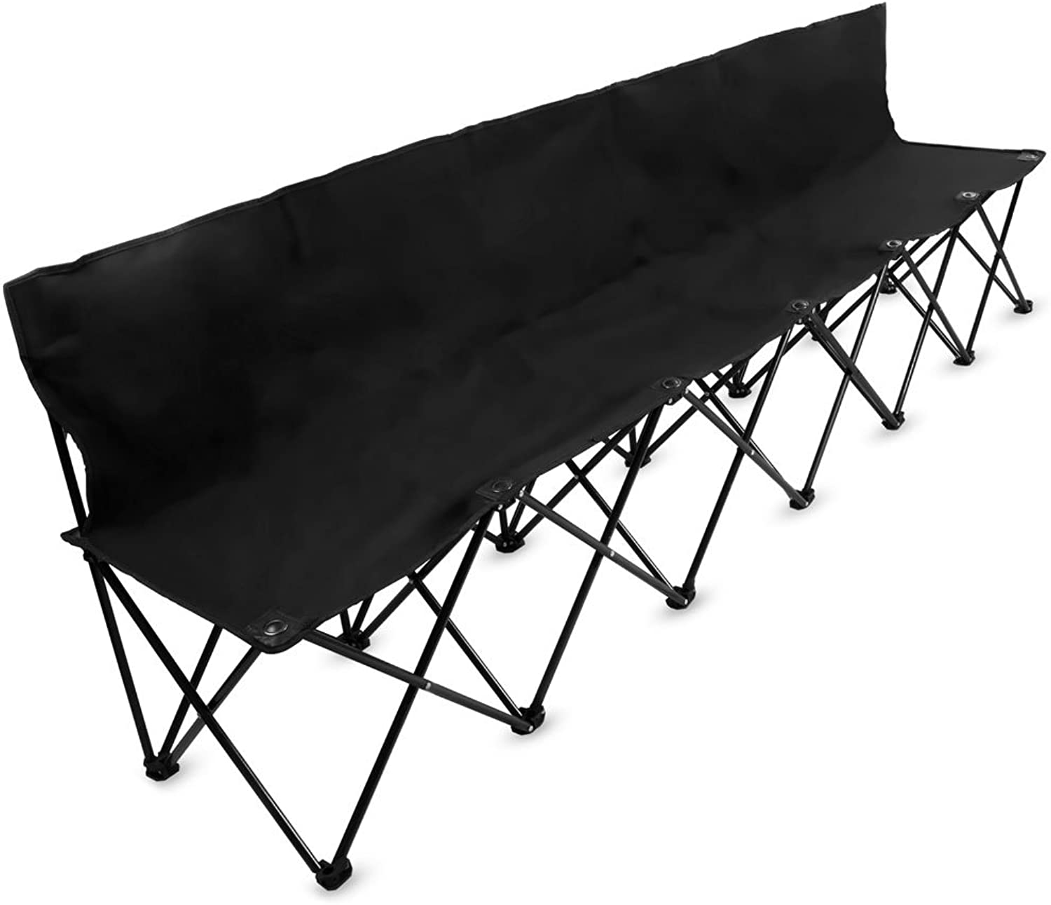 8Foot Portable Folding 6 Seat Bench with Back by Crown Sporting Goods