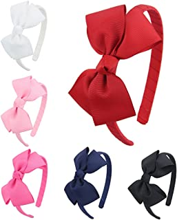 7Rainbows Girls Boutique Grosgrain Ribbon Headbands with Bows(FS011-2)