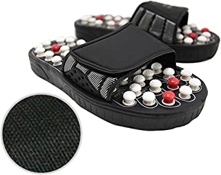 IMSHI Acupressure Foot Massager Acupoint Massage Ball Slippers - Ultimate Therapeutic Natural Stone Reflexology Slippers - Foot Acupressure Shiatsu Massage