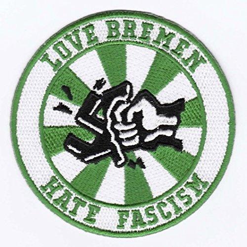 Bremen Aufnäher/Bügelbild/Abzeichen/Iron on Patch Love Bremen - Hate Fascism