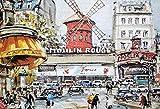 HARD LAND Rompecabezas 1000 Piezas para Adultos Niños Moulin Rouge Paris Gran Rompecabezas Juego Juguetes Regalo