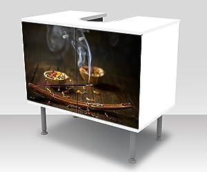 wandmotiv24 Mobile Bagno aromaterapia incollare Anteriore Mobile lavabo Design M0952