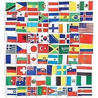 Juvale 72 banderas de países – Banderas internacionales del mundo, decoraciones de fiesta, 72 países diferentes, colores surtidos, 19 x 13 cm