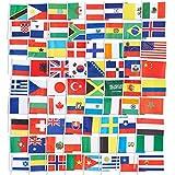 Juvale Lot de 72drapeaux du monde - Décorations de fête, couleurs assorties - 13,5x23,4cm