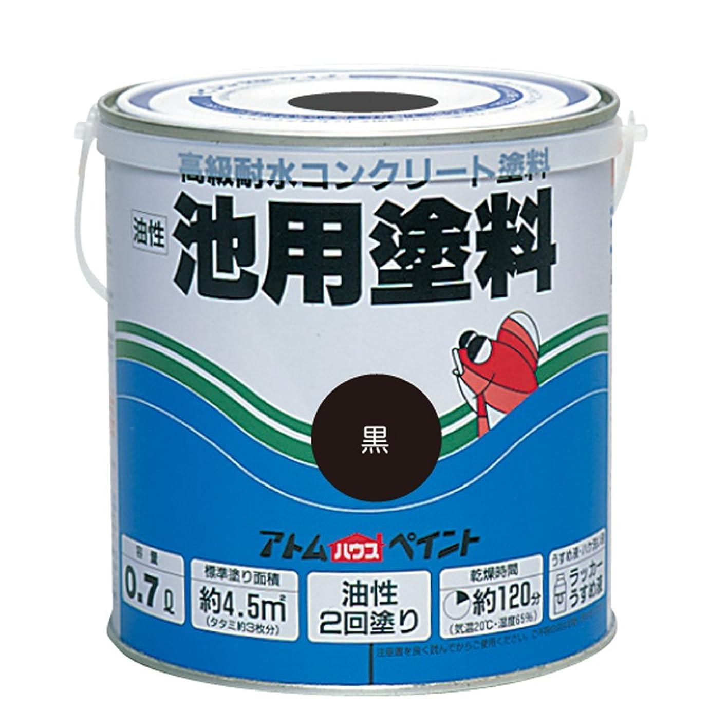 心理学礼儀スペルアトムハウスペイント 油性池用塗料 0.7L 黒