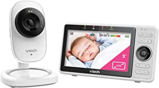 VTech RM5752 Wi-Fi 1080p HD Video Monitor with Remote Access, White,