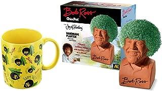Surreal Entertainment Bob Ross Chia Pet & Happy Trees Mug Gift Set
