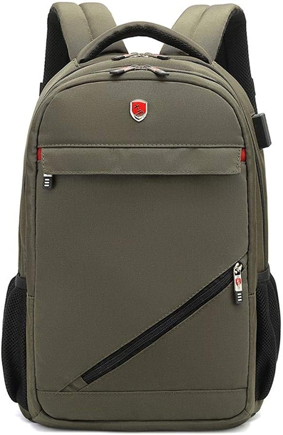 Laptop BackpackBusiness Computer Bag Outdoor Backpack 15 6 Inch Laptop Backpack Travel Bag Bag USB Hole Army Green