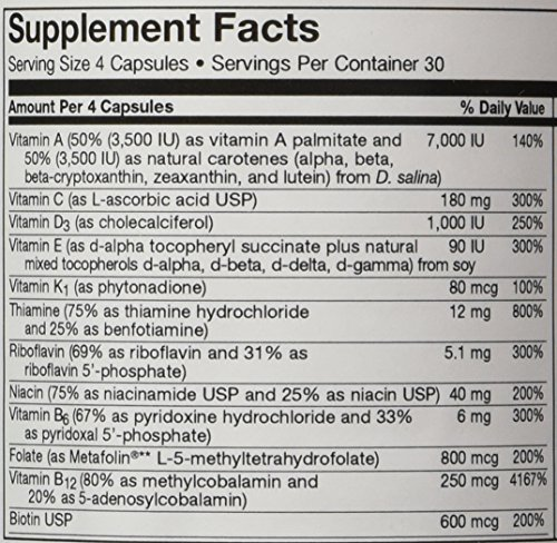 Optimal Multivitamin With Iron   Includes 45 mg of Gentle, Chelated Iron   Contains Active Forms of B Vitamins Plus L-5-MTHF   120 Vegetarian Capsules   Free of Magnesium Stearate   Seeking Health