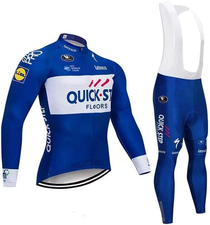 Winter Men's Cycling Jersey Set Bib Shorts with 3D Padded Cycling Kits