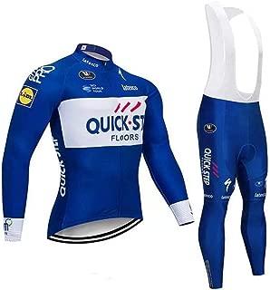 SUN HUIJIE Pantalón Corto de Ciclismo con Jersey de Ciclismo para Hombre de Invierno con Kits de Ciclismo Acolchados en 3D