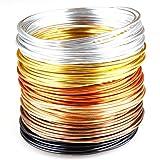 Creacraft Filo d'alluminio per Gioielli, Set Golden Autumn, 6, Colori, 30 m (5 m per Ogni Colore)