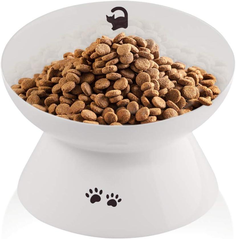 immaculife Ceramic Raised Cat Food Bowl with Trust Mat Slan Max 46% OFF Anti-Slip