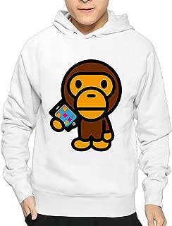Men Famouse Rapper Singer Kid Cudi Bape Pullover Hooded Sweatshirt