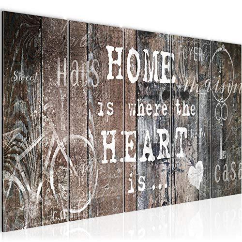 Runa Art Cuadro XXL Hogar 200 x 80 cm Beige Brown 5 Piezas - Made in Germany - 023055b