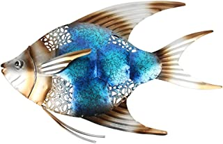 ZHCWT Metal Fish Wall Decor for Garden Ornaments Outdoor Pond Decoration Garden Statues and Sculptures Miniaturas Lawn Orn...