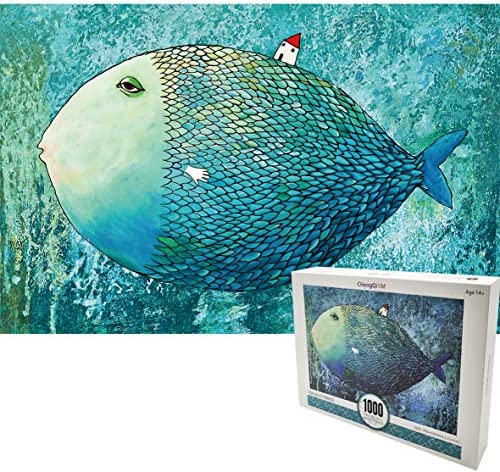 1000 Pieces Blue Fish Hell Level Difficulty Paper Jigsaw Puzzle for Adults product image