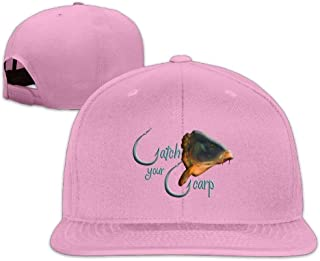 Classic Baseball Caps Catch Your Carp Washed Flat Bill Personalized Summer Snapbacks Hats