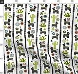 Kaktus, Wüste, Esel, Dreiecke, Mexiko Stoffe - Individuell