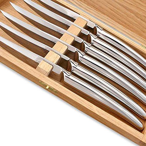 Coffret de 6 couteaux steak Laguiole avec abeille stylisée