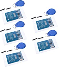 Qunqi 5Pcs RC522 RFID RF IC Card Sensor Module with S50 White Card and Key Ring for Arduino Raspberry Pi