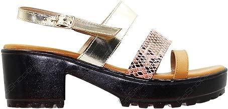 LEMEX Tan Slides Slipper For Women