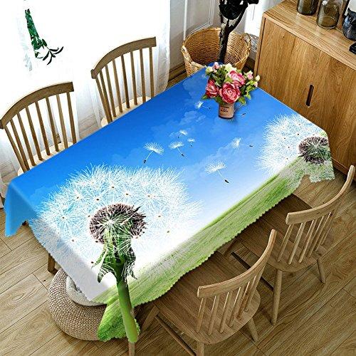 XXDD 3D Tablecloth Diamond Butterfly Flower Pattern Tablecloth Washable Cloth Dust Rectangular Tablecloth A4 140x200cm