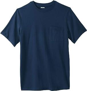 KingSize Men's Big & Tall Shrink-Less Lightweight Pocket Crewneck T-Shirt