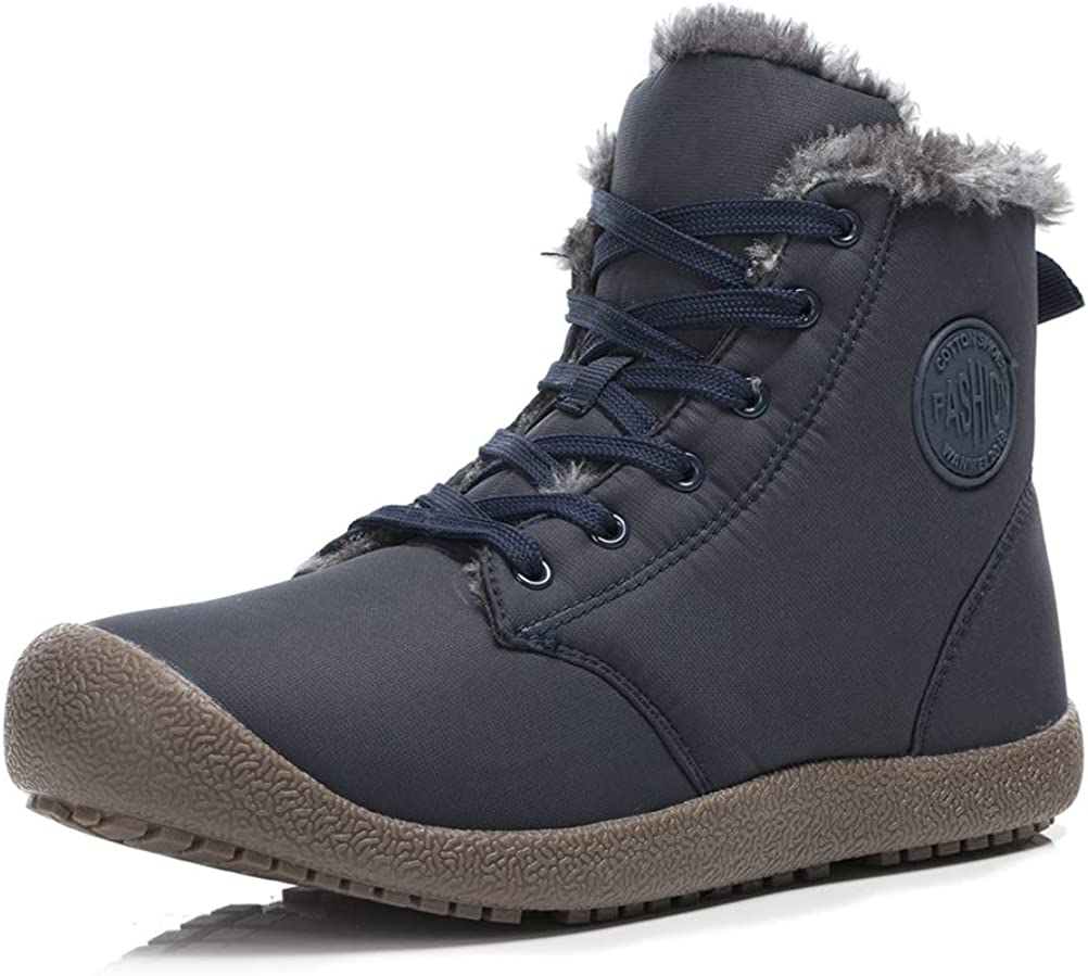 Dannto Winter Snow Boots for Men Women High Top Outdoor Fur Lined Warm Cold Shoes Ankle Booties
