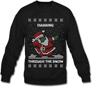Santa Dabbing Through The Snow Ugly Christmas Crewneck Sweatshirt