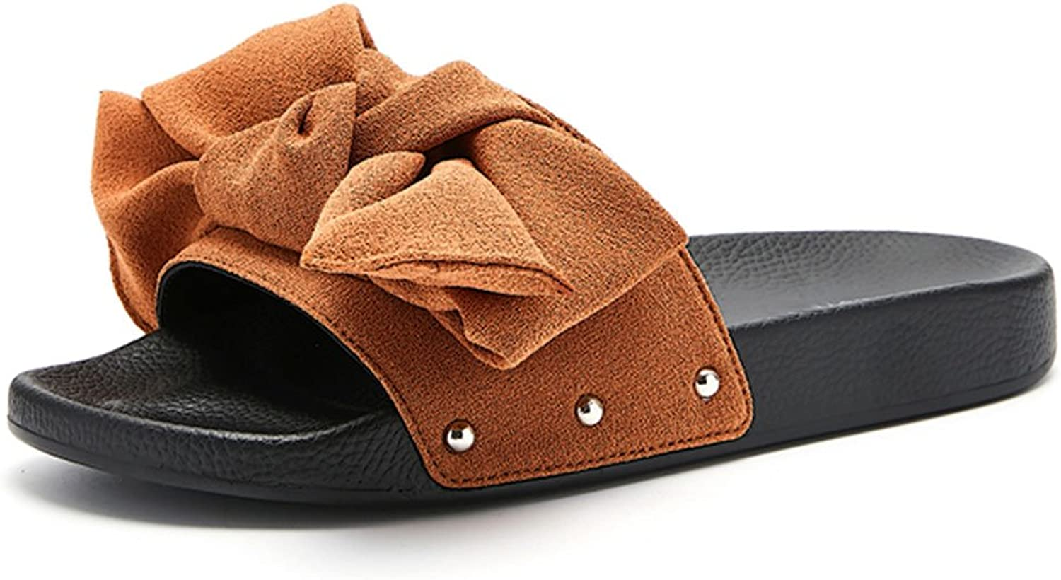 LIUXUEPING Flat Slippers Female Summer Comfortable Breathable Women Slippers Low-Heeled Slippers Casual Slippers.