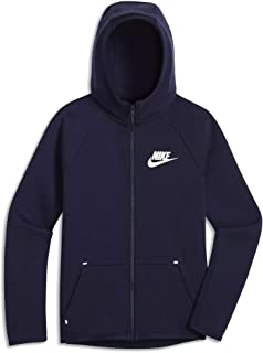 Nike Boys Big Kids Full Zip Tech Fleece Essentials Hoodie Ar4020-451