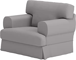 Durabale Dense Cotton Hovas Armchair Sofa Cover Replacement Custom Made for IKEA Hovas 1 Seat Chair Slipcover (Gray)
