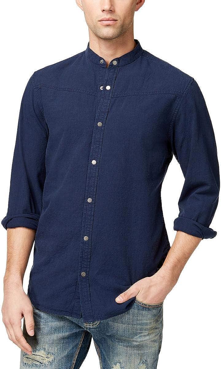 I-N-C Mens Palindrome Button Up Shirt