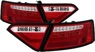 Carpart4u - LED Light bar Tail Light for Audi A5 08-12 - Red Clear