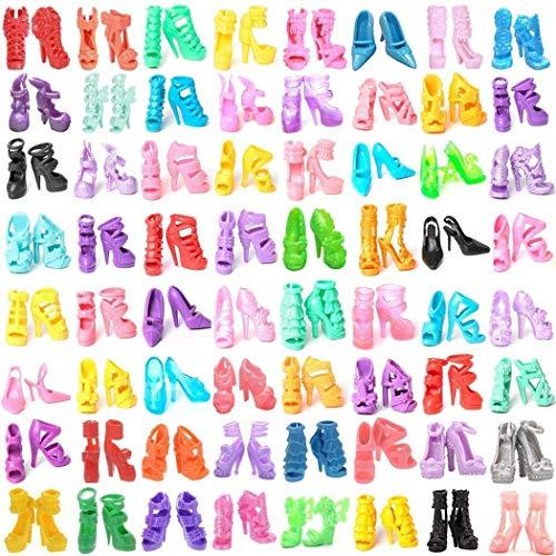 WENTS Kleidung zubehör Set 60 Paar Schuhe Zubehör Accessories für 11,5 Zoll Mädchen Puppen Fashionistas Puppe Prinzessin Barbie Puppe